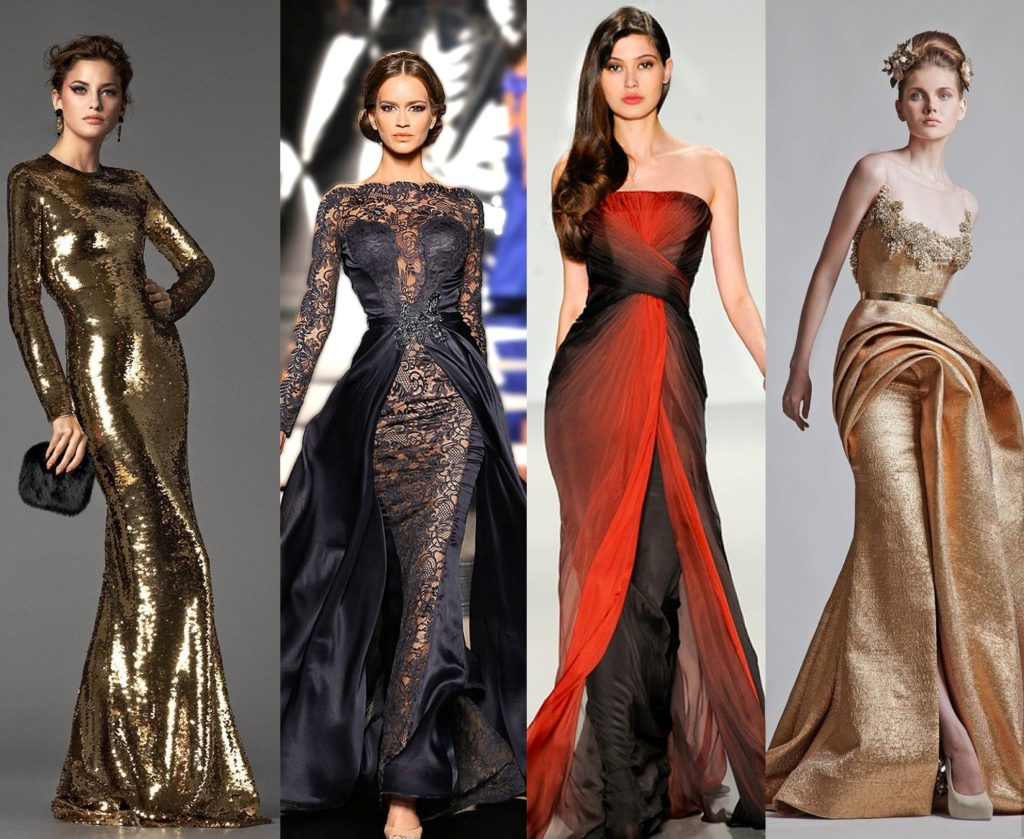 модное вечернее платье