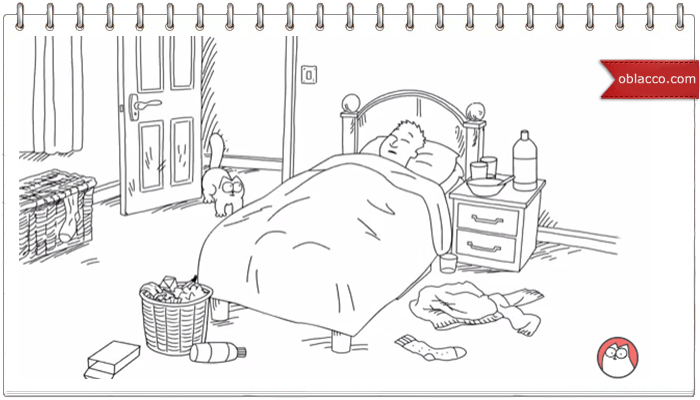 Bed Head - Simon's Cat