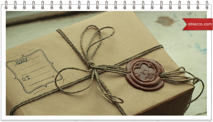 Подарочная коробка украшенная вышивкой