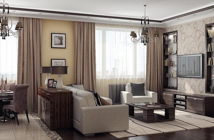 расстановка мебели в гостинной