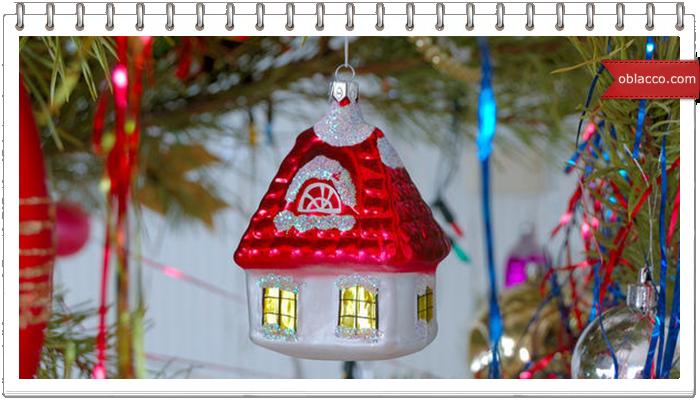 Новогодний светящийся домик из картона. МК