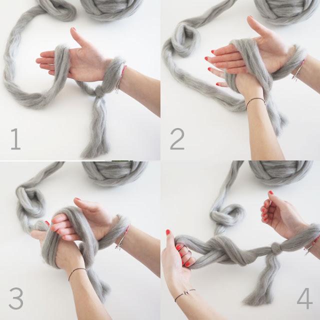 плед вязанный на руках как вязать