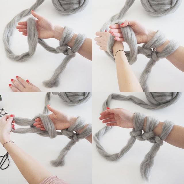 плед вязанный на руках инструкция