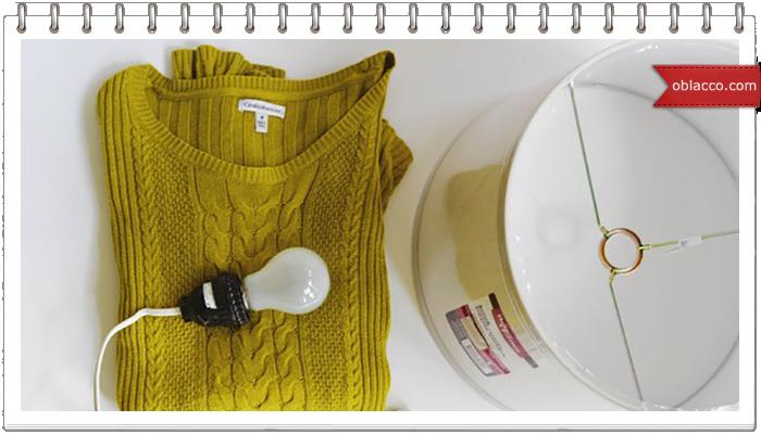 Вязанный интерьер к Новому Году, переделки из свитера