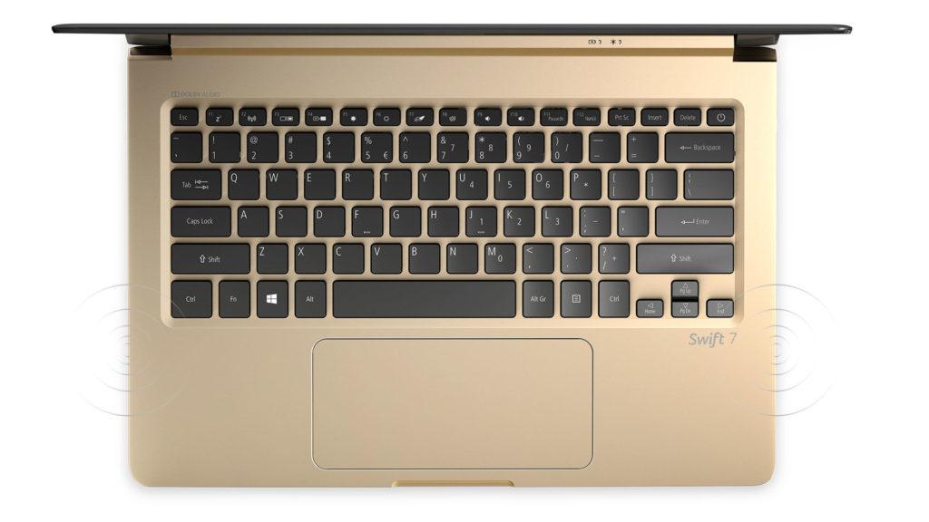 Acer Swift 7 клавиатура