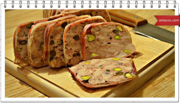 Террин из свинины. Холодная закуска к Новому году