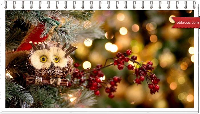 Новогодние птички из папье маше. Украшение на елку