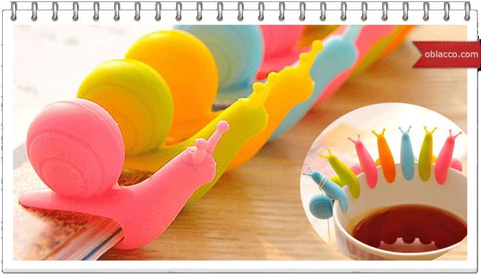 Плетеная коробка для чая - улитка