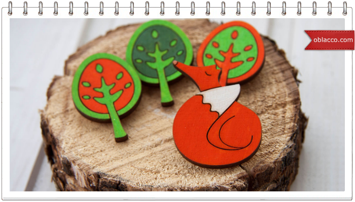 Деревянные значки