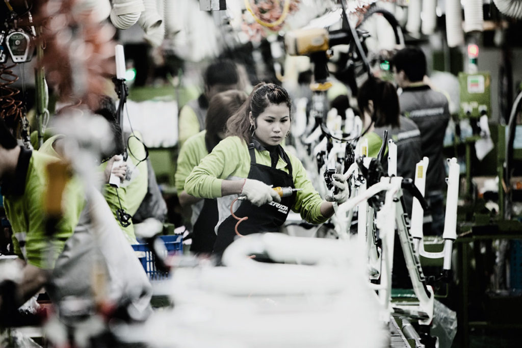 Производство велосипедов Merida