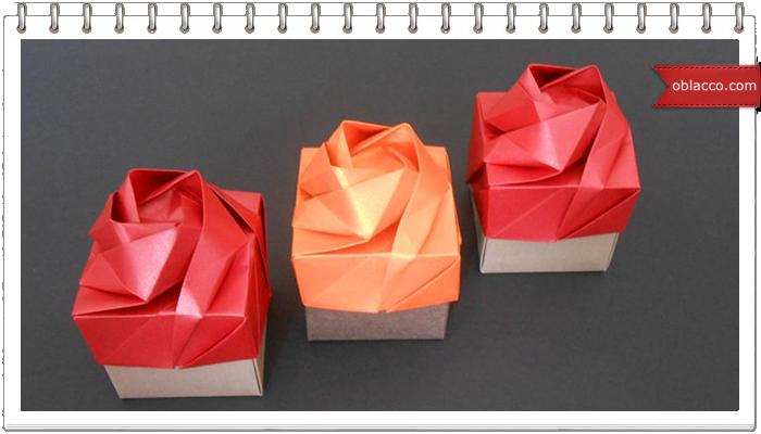 Коробочка-роза в технике оригами. МК
