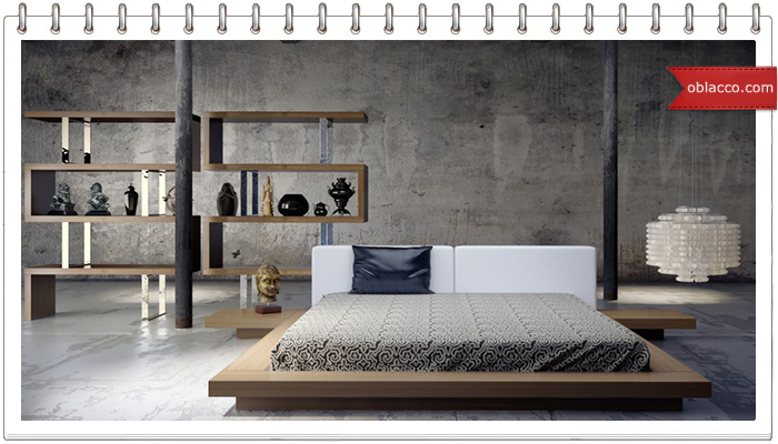 Оформление спальни в стиле лофт