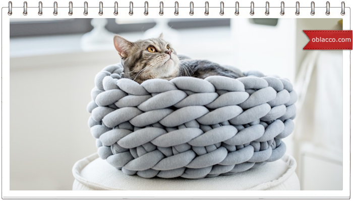 Домик для кота из ниток OHHIO. Вязание на руках