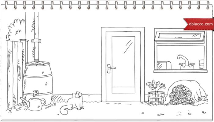 Simon's Cat. Растянулся