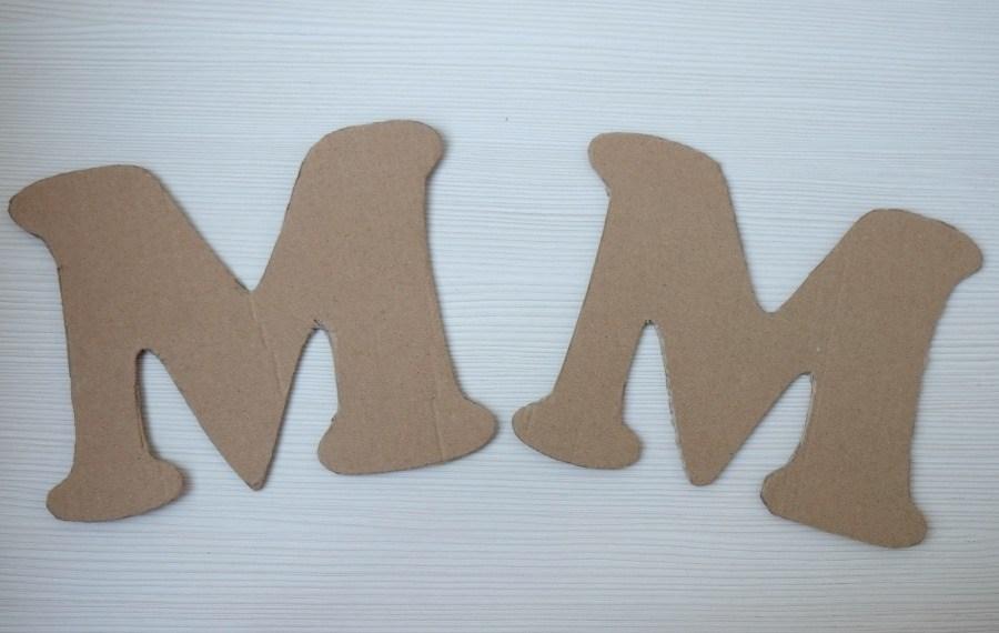 Объемные буквы своими руками из картона схема 369