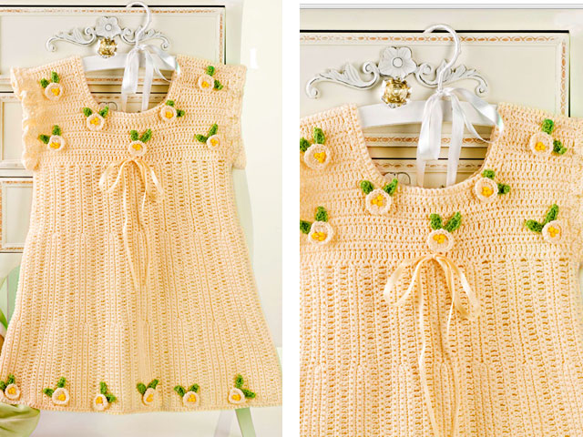 платье крючком для девочки