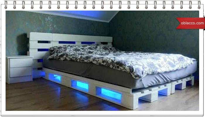 Кровати из паллет - креативные решения