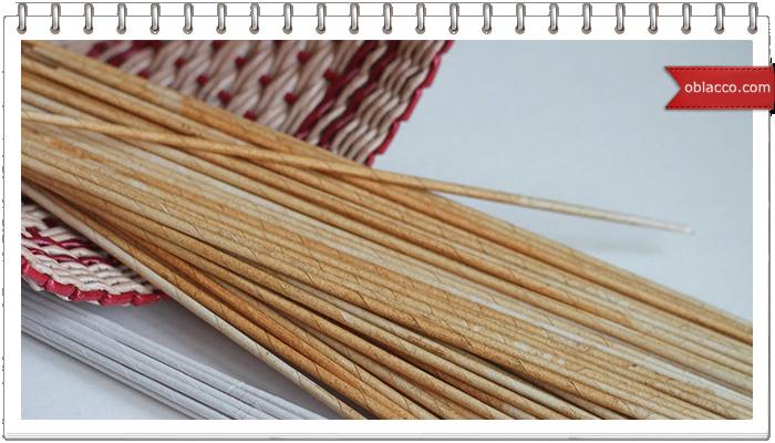 Коса и ситец вдогонку, плетение из газетных трубочек. 2 узора