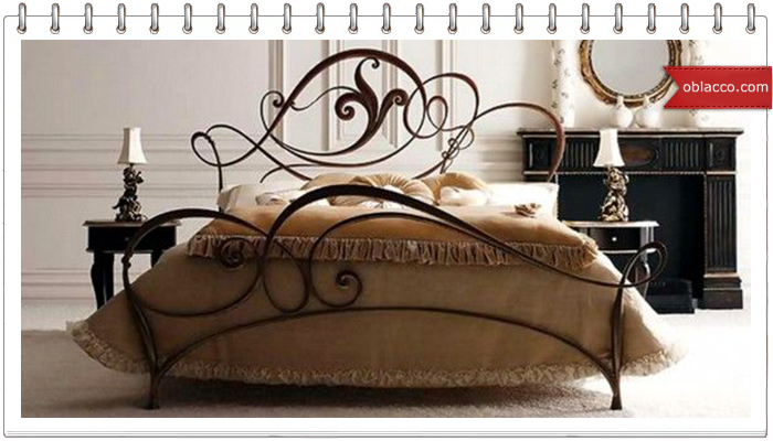 Металлические кровати в винтажном интерьере