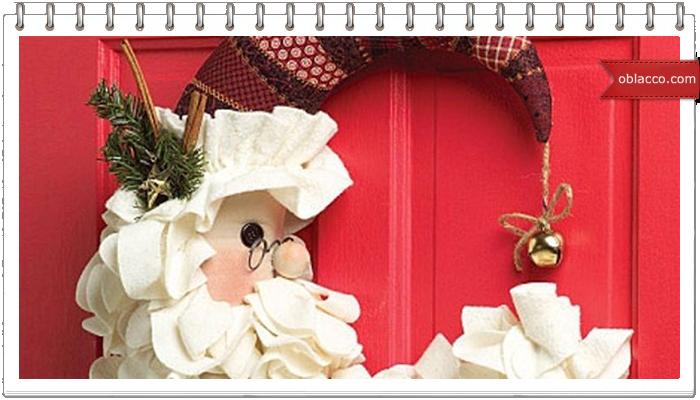 Полумесяц. Новогодний декор на дверь своими руками
