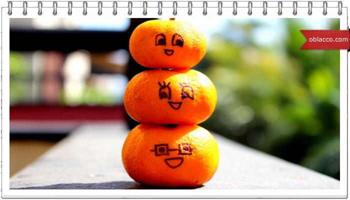 Апельсины - мандарины плетеные из бумажных трубочек