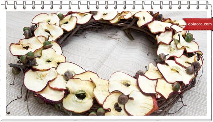 Как засушить яблоки для декора. Оформление подарков