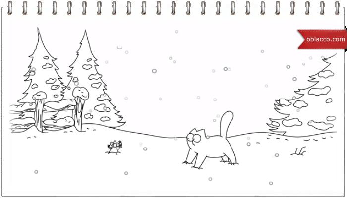 Simon's Cat. Зимние игры