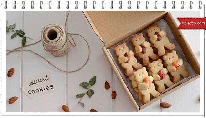 Печенье мишки с орешками