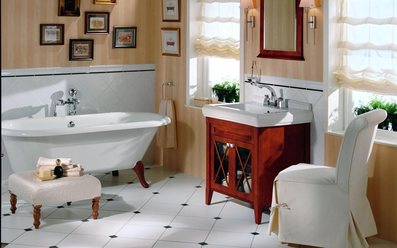 ванная в стиле Ретро