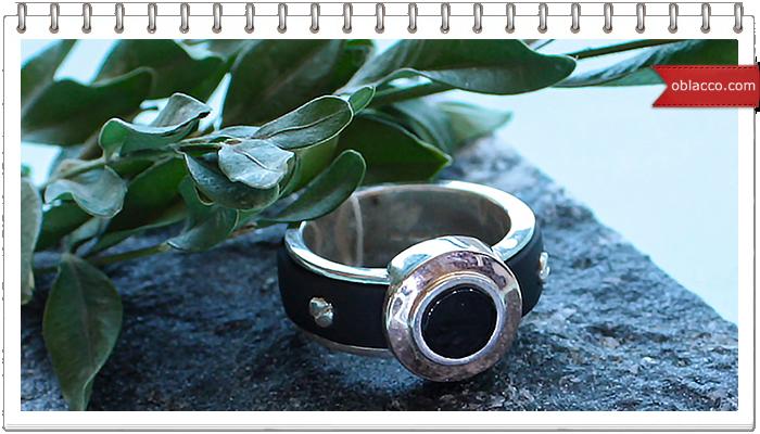 Золотые кольца с каучуком
