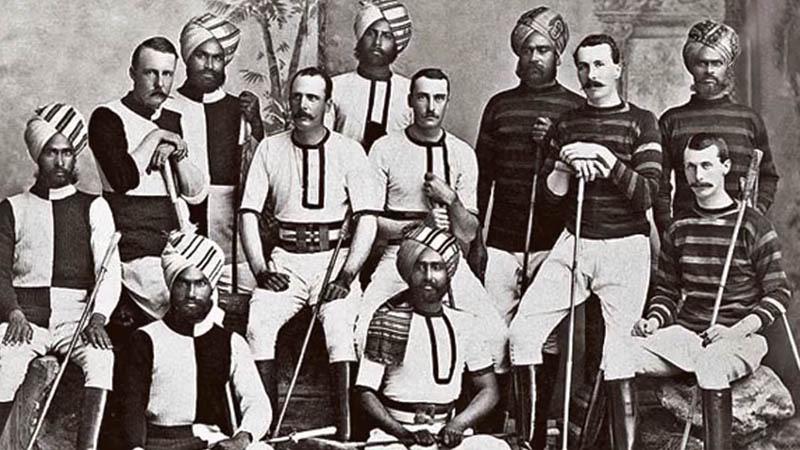 Английские и индийские игроки в поло. Приблизительно 1850 г.